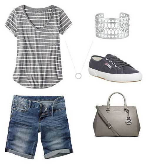 Stripes Shorts Outfit Ideas