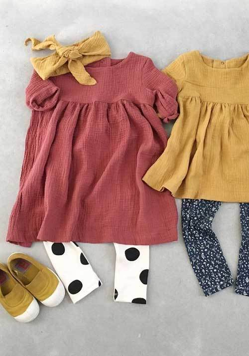 Toddler Girl Dress and Trousers Outfits-18