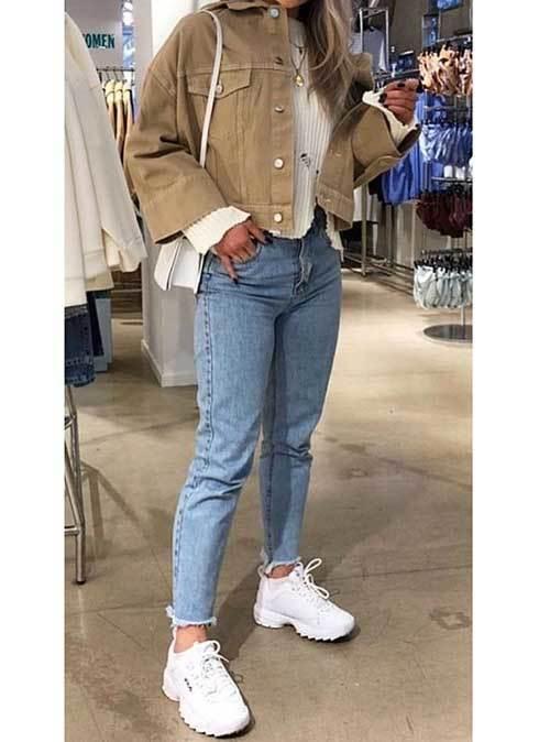 Korean Fashion Chunky Sneakers Outfits-19
