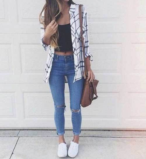 Easy Summer White Vans Outfits-20