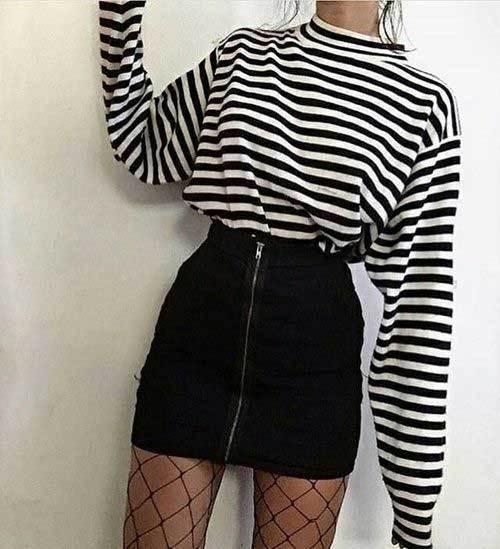 Korean Fashion Mini Skirt Outfits-25