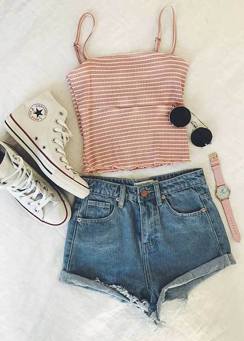High Waisted Shorts Summer Outfit Ideas
