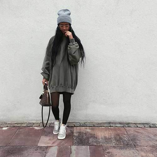 Big Hoodie Winter Outfit Ideas-7