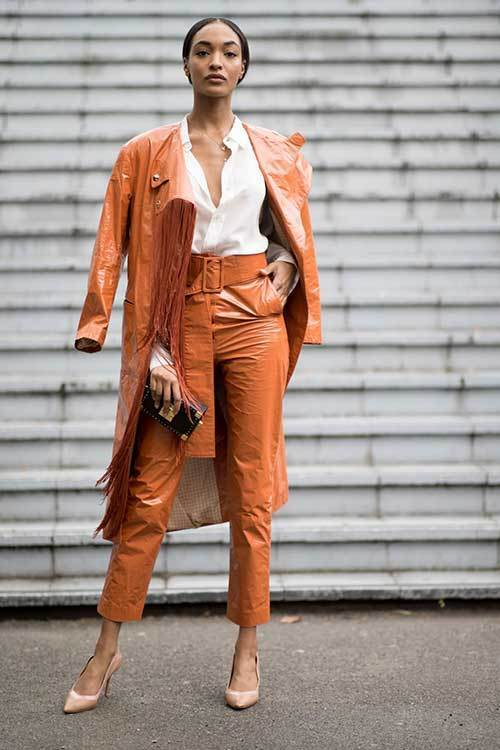 Paris All Orange Outfit Ideas-7
