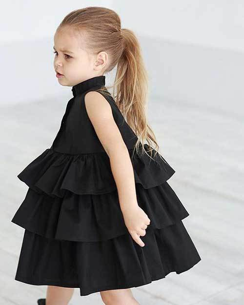 Toddler Girl Ruffle Dress Outfits-8