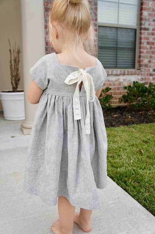 Toddler Girl Linen Dress Outfits-9