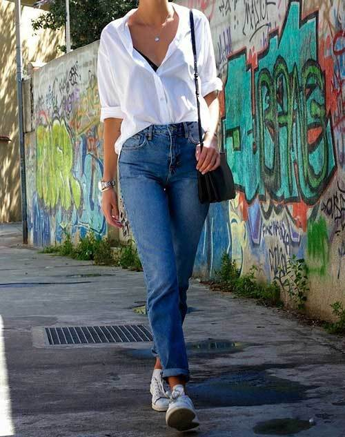 White Shirt Mom Jean Outfit Ideas-9