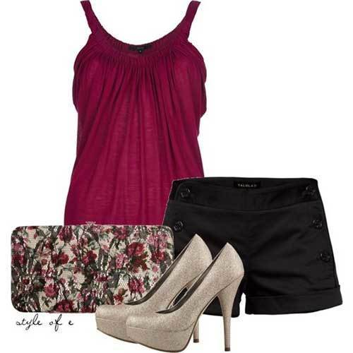 Black Shorts Summer Night Out Outfits