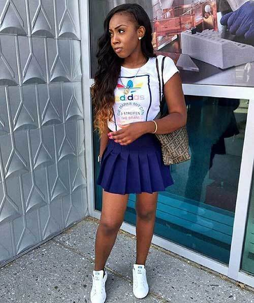 Back to School Mini Skirt Outfits