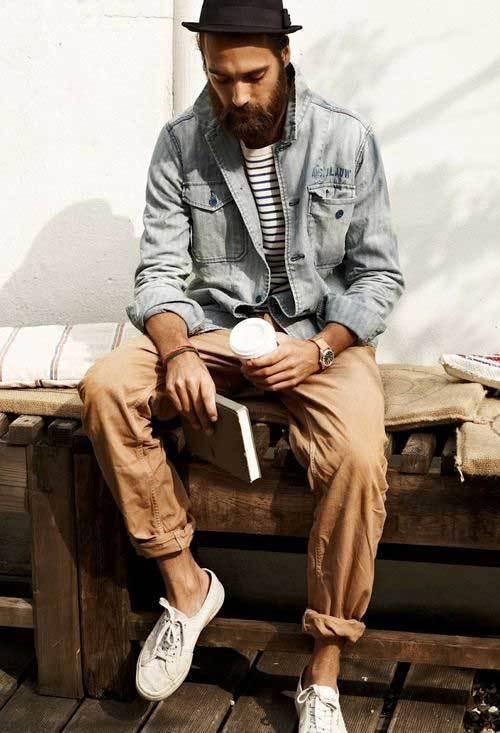 Denim Jacket Indie Outfits Men