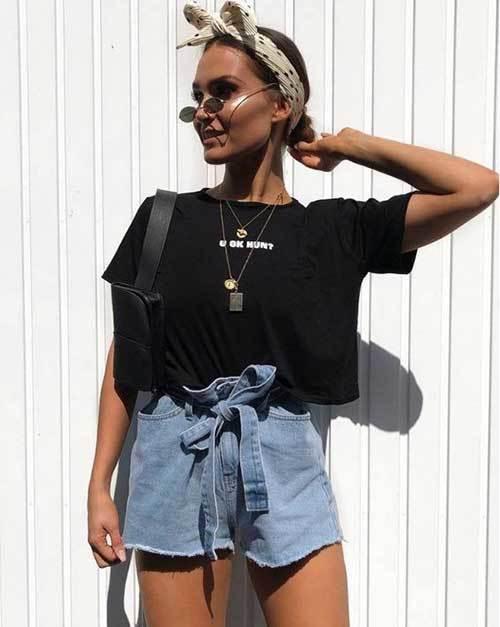 High Waisted Shorts Cute Outfit Ideas