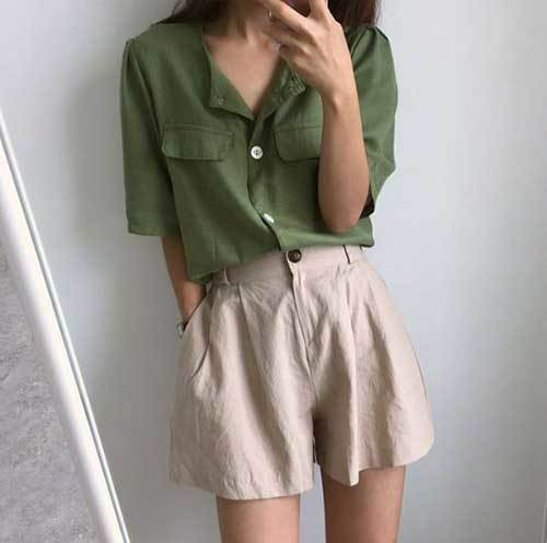 High Waisted Shorts Every-Day Outfit Ideas