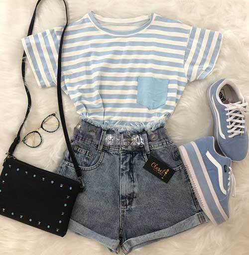 High Waisted Shorts Tumblr Outfit Ideas