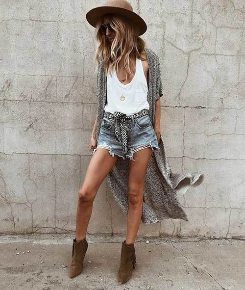 High Waisted Shorts Western Outfit Ideas