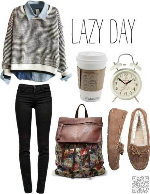 School Cute Lazy Day Outfits