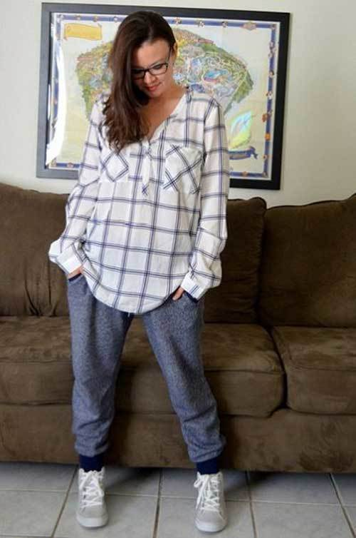 Cute Lazy Day Plaid Shirt Outfits