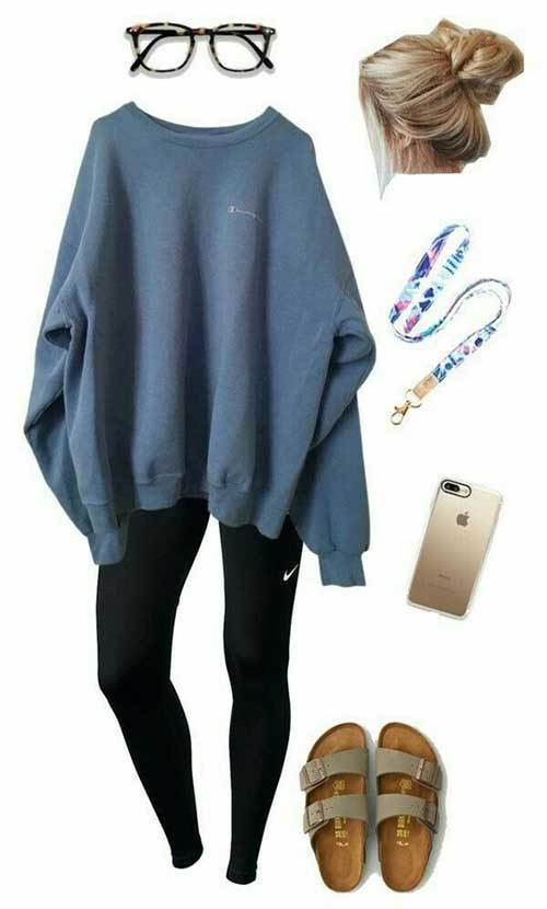 Cute Lazy Day Sweatshirt Outfits