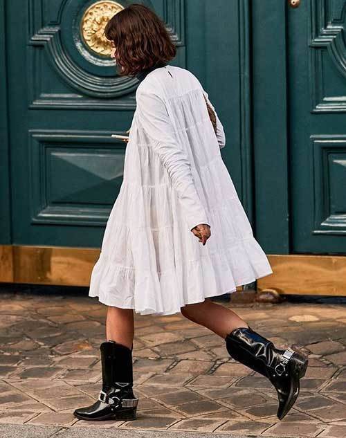 New York Cowboy Boots Street Style Outfits