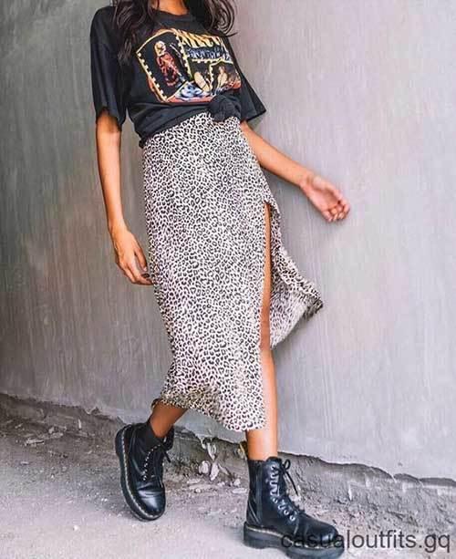 Street Style Midi Skirt Outfits