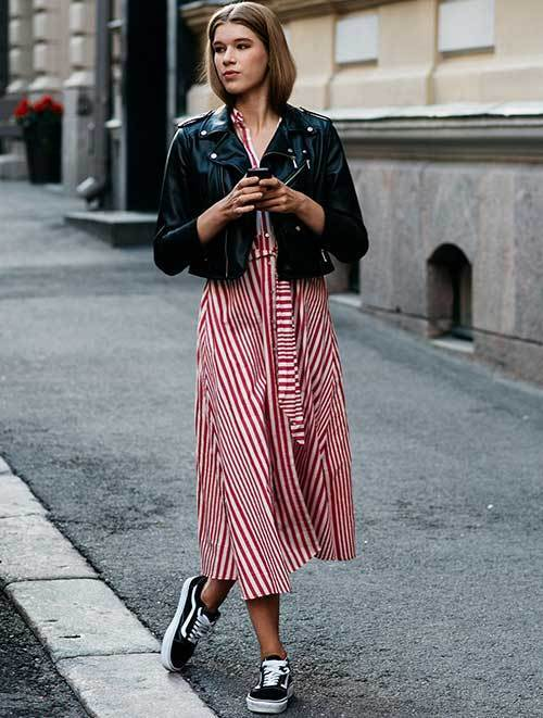 Street Style Striped Dress Outfits