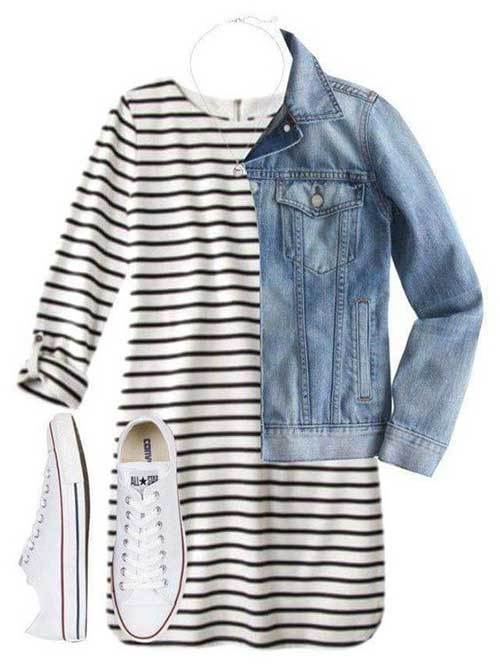 Striped Dress Outfit Ideas