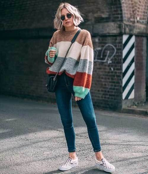 Stripes Winter Outfit Ideas