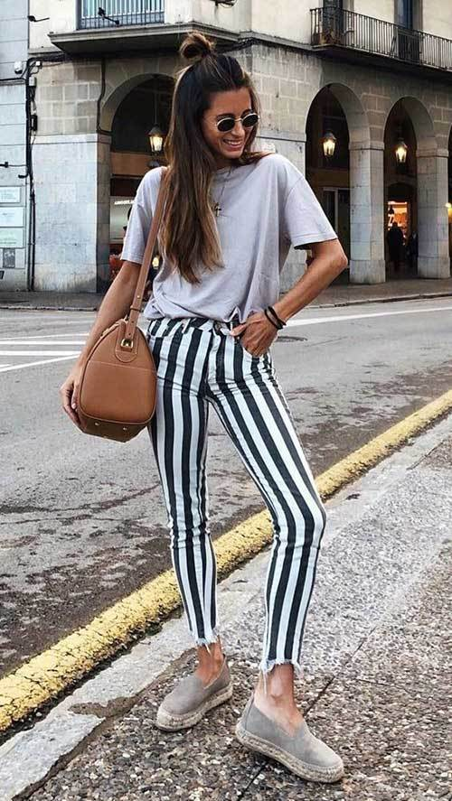 Stripes Pantsoutfit Ideas