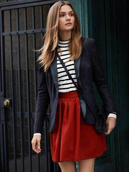 Stripes Blazer Outfit Ideas