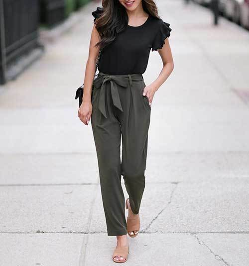 Summer Office Ankle Pants Outfit Ideas