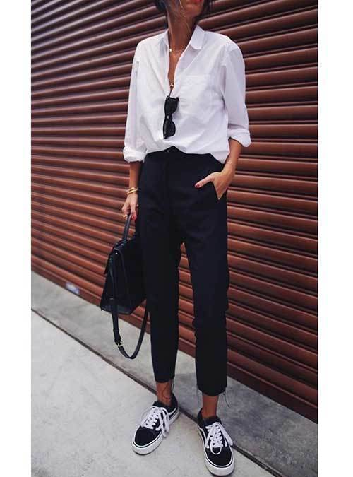 Summer Office Sneakers Outfit Ideas
