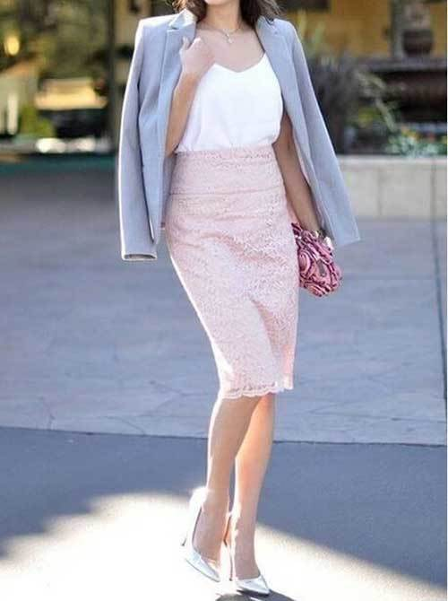 Pretty Skirt Outfits for office-10