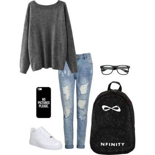 Sporty Outfits for University-10