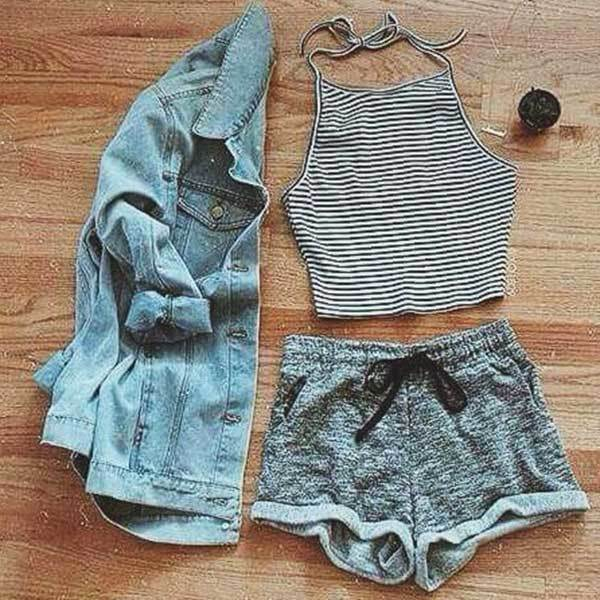 Summer Lazy Outfit Combinations-10