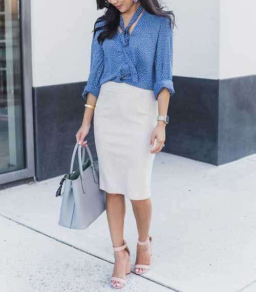 Shirt and Skirt Outfits for office-11