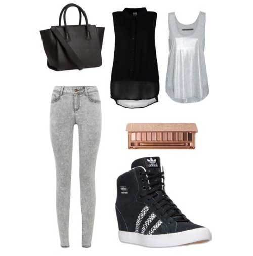 Casual Sporty Outfits for School-12