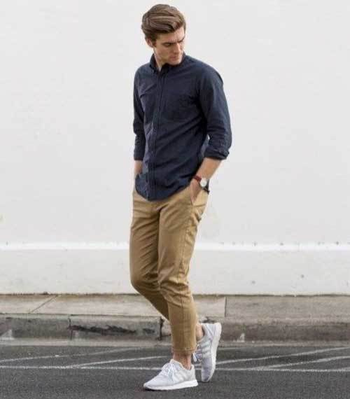 Simple Street Style Outfits for Skinny Men-12