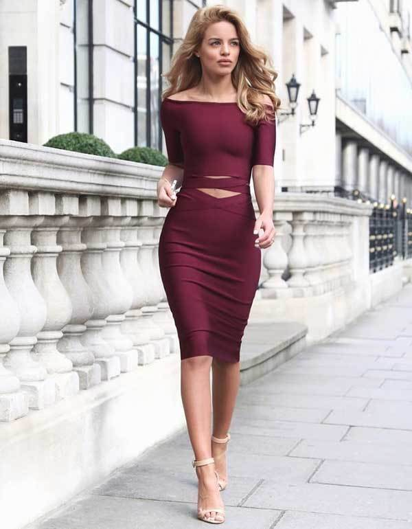 Burgundy Prom Night Outfits-13