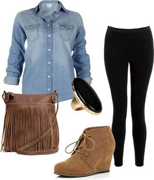 Winter Denim Jean Shirt Women-14