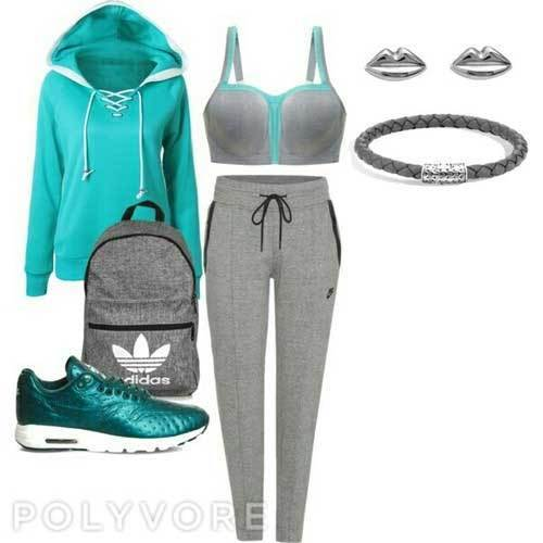 Sporty Comfy Outfits for School-15