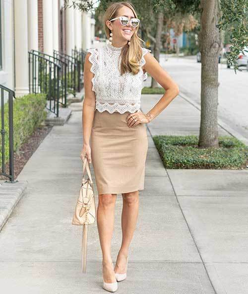 Everyday Skirt Outfits for office-16