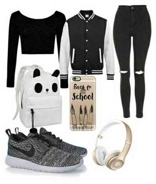 Sporty Casual Outfits for School-16