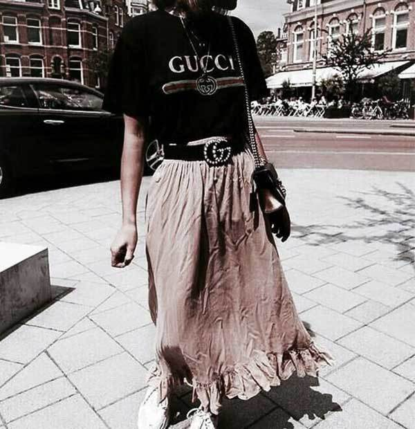 Summer Maxi Skirt Outfit Combinations-19