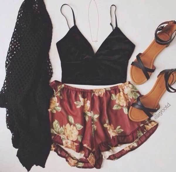 Summer Shorts Outfit Combinations-23