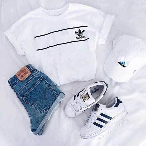 Sporty Adidas Outfits for School-6