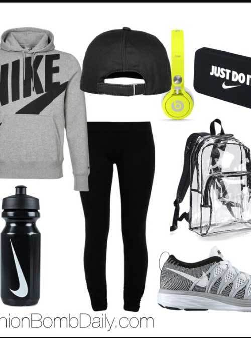 Sporty Gym Outfits for School-7