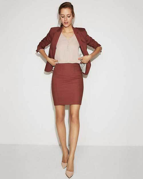 High Waisted Skirt Outfits for office-8