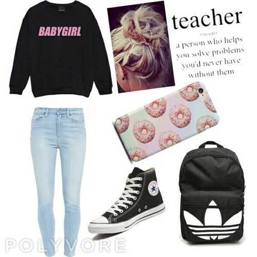 Sporty All-Adidas Outfits for School-9