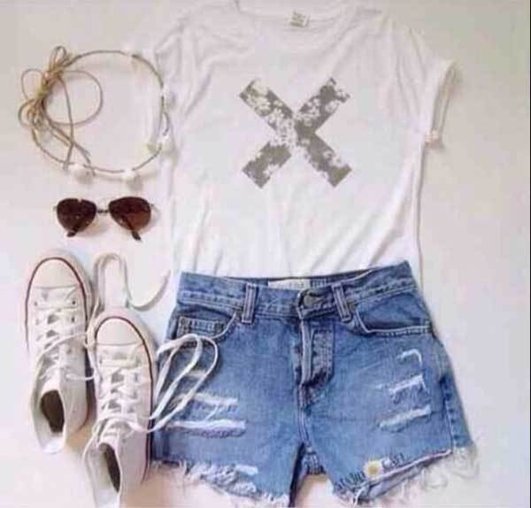 Summer Ripped Denim Outfit Combinations-9