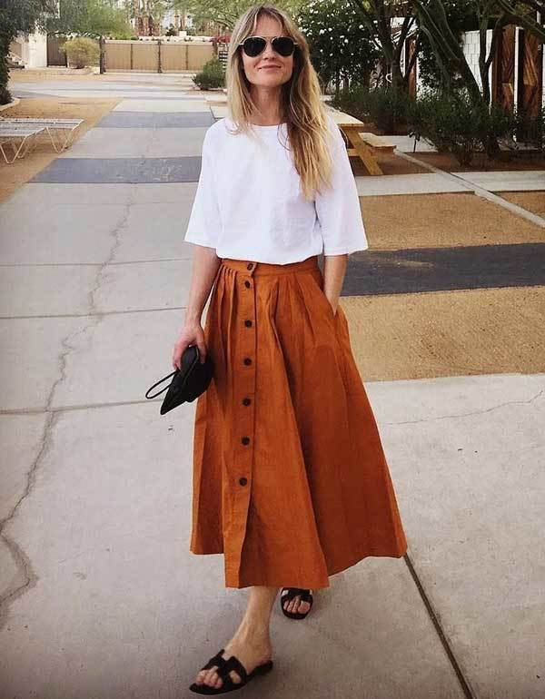 20 best midi skirt outfits with multiple outfit styles