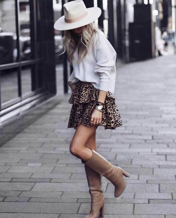 Winter Leopard Skirt Outfits-12
